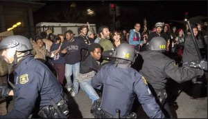 Police attack protesters in Berkeley, California
